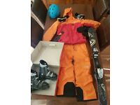 Kids age 10-12 full North Face ski jacket & pants and equipment