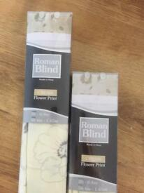 Roman Blinds - Cream