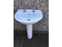 Hand basin & pedestal