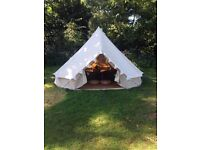 *** 5 METRE BELL TENT WITH HEAVY DUTY ZIPPED IN GROUNDSHEET - 6 AVAILABLE ***