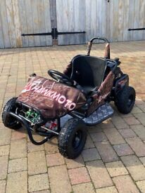 Hawkmoto Kids 80cc Off-Road Petrol Go-Kart