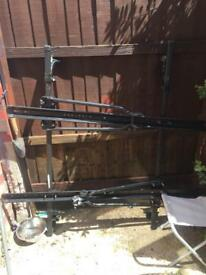 Universal roof bars and 2 bike racks