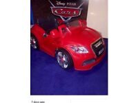 Kids 12v Electric Ride On Car Audi TT Red Convertible Immaculate unused