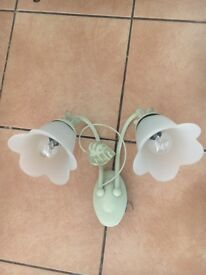 3 x Vintage retro floral wall lights great condition