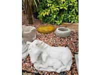 Concrete Mare and Foal Crocodile Cow Garden Ornaments