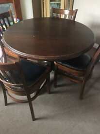 Tressle table and 4 chairs