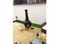 Chiminea Outdoor Fireplace Wood Burning