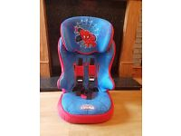 spiderman high back booster seat from 9 months-11 years