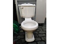 Traditional bathroom sink, pedestal and toilet