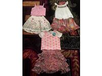 Lovely girls bundle age 6-7 .. 3 tops and 3 skirts Monsoon /next