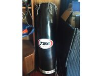 T-SPORT leather punch bag