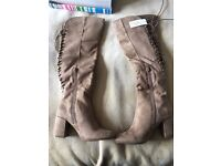 Ladies Suedette Knee high boots Size 36