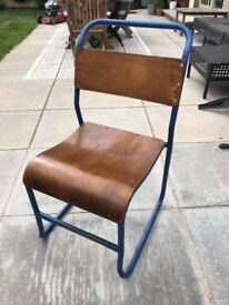 6 vintage school chairs (adult/full size)