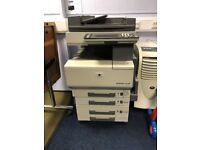 Bizhub C350 photocopier / printer/ scanner 80gb harddrive network or independant standing ready