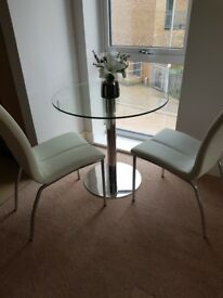 John lewis 2 seater table with chairs. New!!