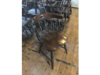 65 wooden farmhouse style chairs suitable for bar or restaurant