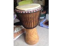 "Genuine African 13"" Djembe Drum plus stunning case"