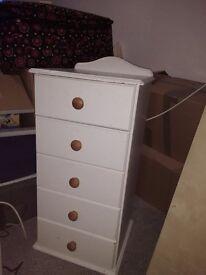 Tall chest of drawers... Tallboy / tall boy :-)