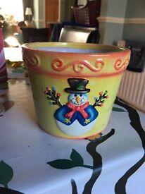 Christmas plant pot