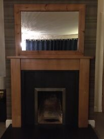 oak fire surround, excellent condition, ready for pick up