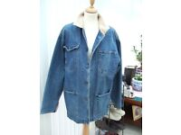 jean jacket ex condition clean /smoke free house