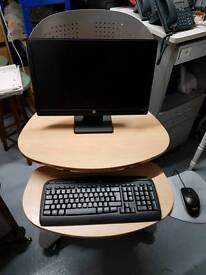 Mobile computer / tv table