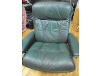 EKORNES STRESSLESS RECLINING LEATHER CHAIR