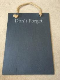 Solid Slate Noticeboard