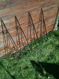 Wrought iron brackets x4