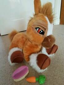 "14"" Emotion pets Toffee Brown Pony interactive soft toy -GREAT XMAS PRESENT!!"