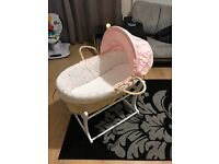 Mothercare Baby moses basket and rocking stand
