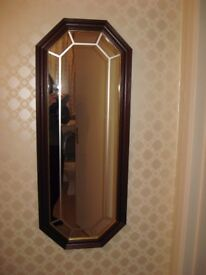 Hall Mirror with gold trim Excellent condition!