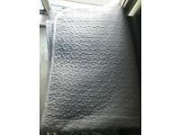 Bedspread/cover light grey