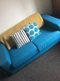 Turquoise Single Sofa Bed