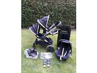 Icandy peach 3 2017 Leather Model Newest Double buggy pram Brand new seat