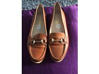 Ladies brown leather loafer
