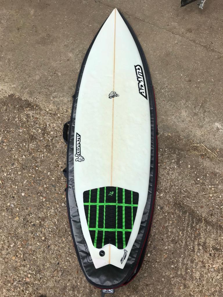 Adams 6'2 bumpfish shortboard surfboard + bag and fins | in Denmead,  Hampshire | Gumtree