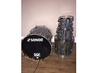 Sonor SQ2 Maple Light Drum Kit Strata Wood with Tiger Wood on the inside
