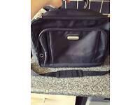 Unisex black shoulder bag
