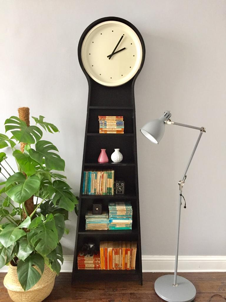 ikea ps pendel wooden monochrome floor shelf clock in