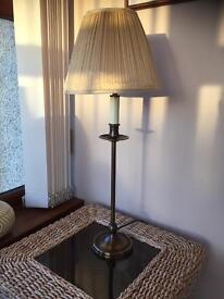 Table lamp antique brass colour