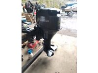 30hp tohatsu 4 stroke, long shaft, remote control outboard boat engine