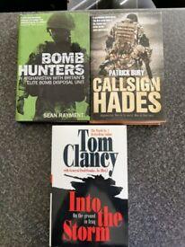 3 large War books