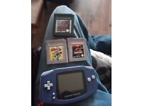 Gameboy advance with 3 games