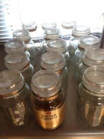 Douwe Egbert coffee jars £1 each for crafts ingredients etc storage