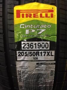 4 Brand New Pirelli P7  All Seasons PLUS in 205/50R17 tires