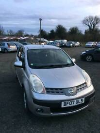 Nissan note se 1.6L 5DR 2007 full service history excellent condition