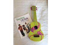 Ukulele with music book - funky design!