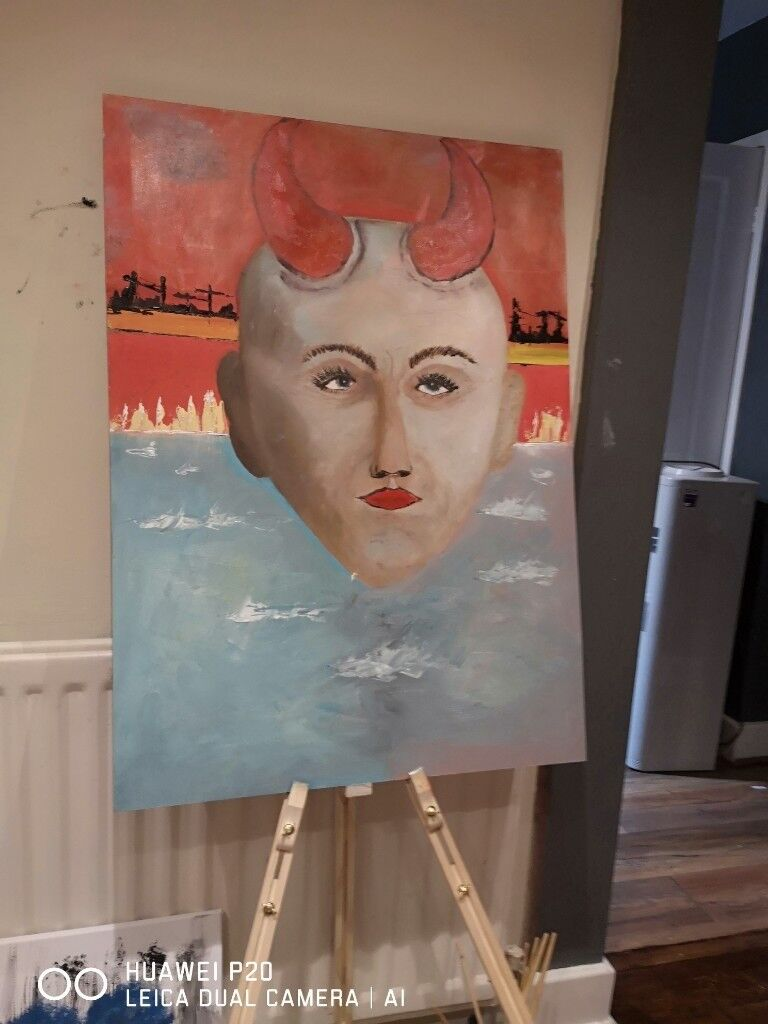 She Devil Oil Painting