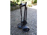 Golf cart, black folding 2 wheel golf trolley. FOR SALE £7.50.